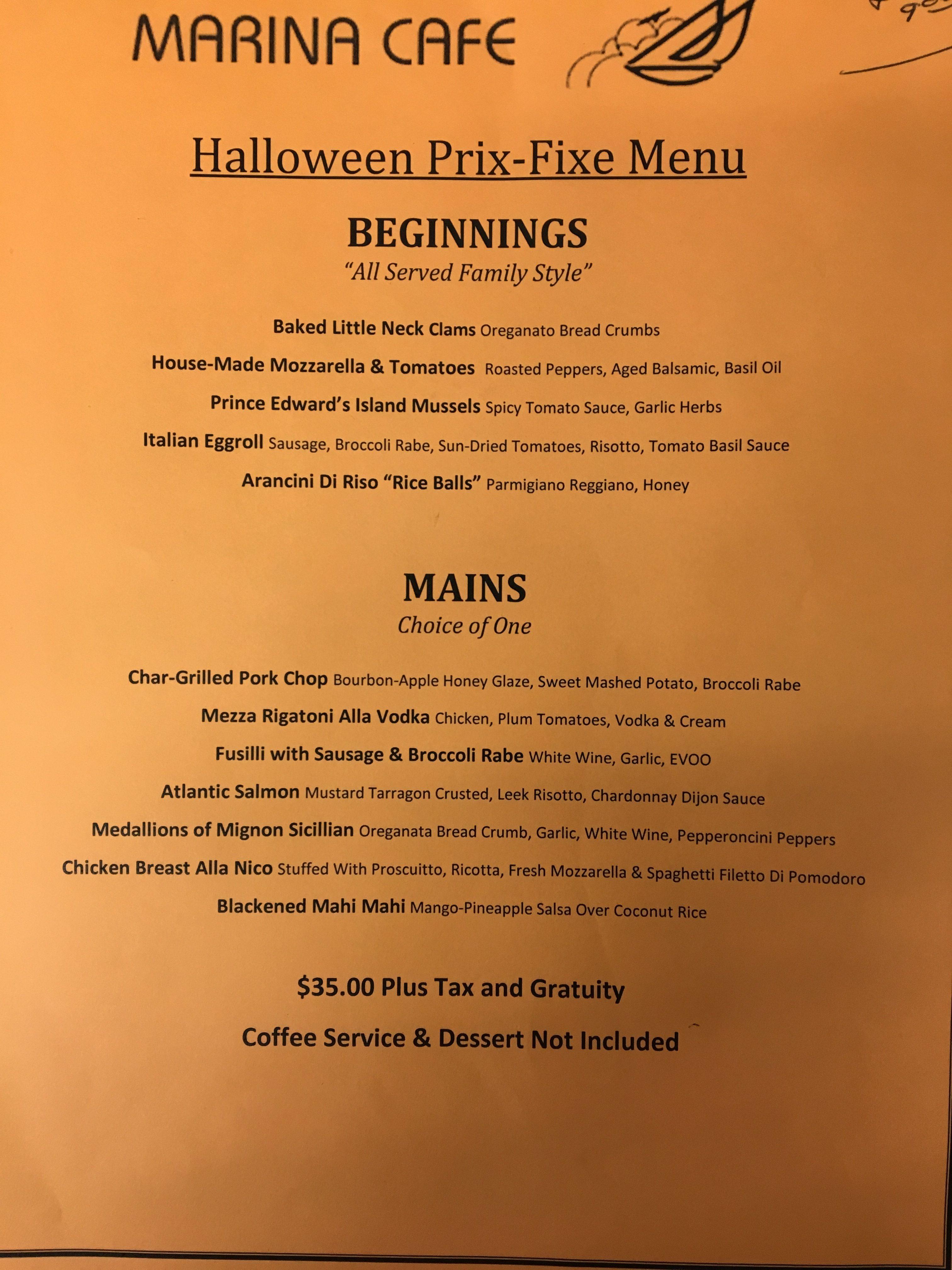 Prix Fixe Dinner Staten Island